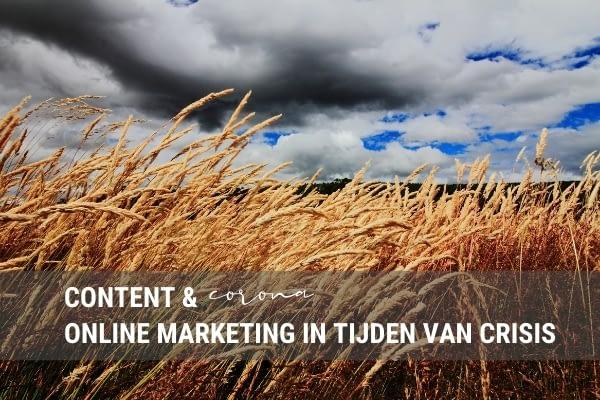 Content & corona: online marketing in tijden van crisis