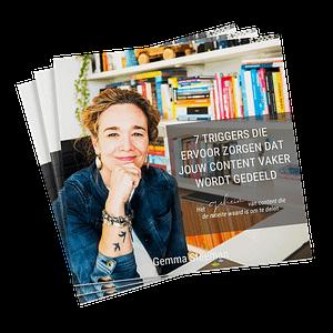 Gratis e-book '7 triggers die ervoor zorgen dat jouw content vaker wordt gedeeld'