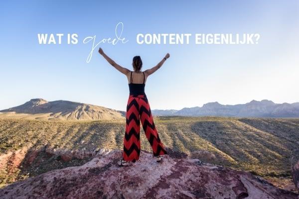 Wat is goede content?